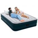 Intex Dura-Beam Series Elevated Comfort Airbed with Built-In Electric Pump, Bed Height 16″, Queen