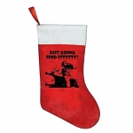 Just Gonna Send It Red Felt Christmas Stocking Party Accessory Festival Party Ornaments