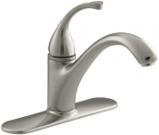 KOHLER Forte Single Control Kitchen Sink Faucet with Escutcheon and Lever Handle