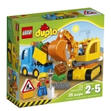 LEGO® DUPLO® Town Truck & Tracked Excavator Best Gift for 2-Year-Olds