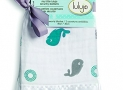 Lulujo Security Blankets, Whales, Multi, One Size (Pack of 2)