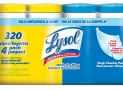 Lysol Disinfecting Surface Wipes, XL Pack (4×80 Count), Citrus/Spring Waterfall, 320 Count