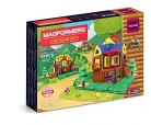 Magformers Log Cabin 87 Building Set, Multicolor