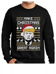 Make Christmas Great Again Donald Trump Ugly Funny Christmas Sweatshirt
