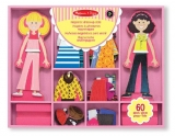 Melissa & Doug Abby and Emma Deluxe Magnetic Wooden Dress-Up Dolls Play Set (55+ pcs)