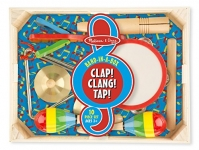 Melissa & Doug Band-in-a-Box Clap! Clang! Tap! – 10-Piece Musical Instrument Set
