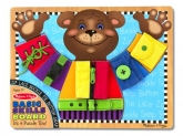 Melissa & Doug Basic Skills Board and Puzzle – Wooden Educational Toy