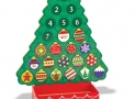Melissa & Doug Countdown to Christmas Wooden Advent Calendar – Magnetic Tree, 25 Magnets