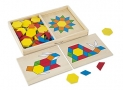 Melissa & Doug Pattern Blocks and Boards – Classic Toy With 120 Solid Wood Shapes