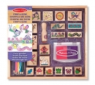 Melissa & Doug Stamp-a-Scene Stamp Pad: Fairy Garden – 20 Wooden Stamps, 5 Colored Pencils, and 2-Color Stamp Pad