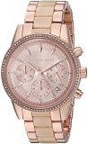 Michael Kors Women's Quartz Stainless Steel Casual Watch, Color:Rose Gold-Toned