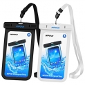 Mpow Waterproof Case, IPX 8 Waterproof Cell Phone Case for iPhone7/7+/6/6+, Samsung Google Pixel, HTC, LG, Huawei, Sony, Nokia (2 Pack)