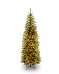 National Tree 6.5 Foot Kingswood Fir Pencil Tree with 250 Clear Lights, Hinged