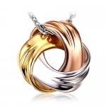 """J.Rosée Fine Womans Jewelry """"Spiral Galaxy"""" Tricolor Necklace, 18""""+ 2″ Extender"""