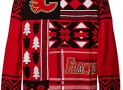 NHL Calgary Flames Patches Ugly Sweater, Red, Large