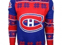NHL Montreal Canadiens Big Logo Ugly Crew Neck Sweater, Large