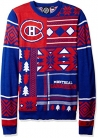 NHL Montreal Canadiens Patches Ugly Sweater, Blue, Large