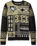 NHL Pittsburgh Penguins Patches Ugly Sweater, Black, Larg