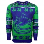 NHL Vancouver Canucks Big Logo Ugly Crew Neck Sweater, Large