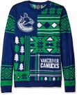 NHL Vancouver Canucks Patches Ugly Sweater, Blue, Large