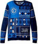NHL Winnipeg Jets Patches Ugly Sweater, Blue, Large