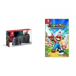 Nintendo Switch Console – Grey Edition with Mario + Rabbids Kingdom Battle