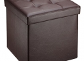 Ollieroo Faux Leather Folding Storage Ottoman Bench Seat Foot Rest Stool