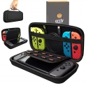 Orzly Carry Case Compatible With Nintendo Switch – BLACK Protective Hard Portable Travel Carry Case Shell Pouch for Nintendo Switch Console & Accessories