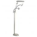 OttLite 3-in-1 Adjustable-Height Craft Floor Lamp with Magnifier and Clip