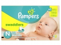 Pampers Swaddlers Diapers Size N for Newborns, Super Pack, 88 Count