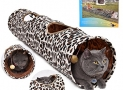 PAWZ Road Cat Tunnel Leopard Print Crinkly Cat Fun 2 Holes Long Tunnel