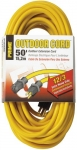 PRIME EC500830 50′ 12/3 SJTW Jobsite Outdoor Extension Cord, Yellow