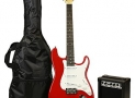 RockJam RJEG02-SK-RD ST Style Electric Guitar Super Pack with Amp, Gig Bag, Strings, Strap, Picks