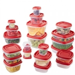 Rubbermaid Easy Find Lid Food Storage Container, BPA-Free Plastic, 42-Piece set (1880801)