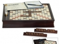 Scrabble Deluxe Wooden Edition with Rotating Game Board