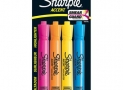 Sharpie ACCENT Highlighter, Tank Highlighter Chisel, 4-Carded, Fluorescent Assorted