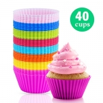 Silicone Baking Cups (40 Pcs) – Cupcake Liner
