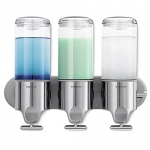 simplehuman Wall Mount Pumps, Triple 15 fl. oz. Shampoo & Soap Dispenser