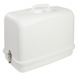 Singer 611.BR Universal Hard Carrying Case for Most Free-Arm Sewing Machines, Snow White