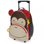 Skip Hop Zoo Little Kid & Toddler Rolling Luggage, Marshall Monkey