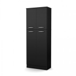 South Shore Axess Storage Pantry, Pure Black
