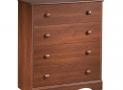 South Shore Furniture, Heavenly Collection, 4 Drawer Chest, Royal Cherry
