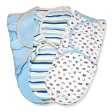 Summer Infant SwaddleMe Cotton, Beep Beep, 3-Pack