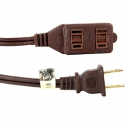 Sunlite 04095-SU EX6/BR Household 6-Feet Extension Cord, Brown