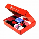 TeeHee Gift Box 12-Pairs of Valentine's Day Socks for Women