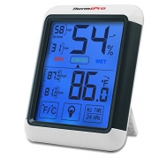 ThermoPro Digital Hygrometer Thermometer Indoor Humidity Temperature Monitor with Large LCD Display and Backlight