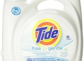 Tide Free & Gentle HE Liquid Laundry Detergent, Unscented, 4.43 L (96 Loads)