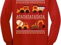 Tractors & Bulldozers Ugly Christmas Sweater Toddler/Kids Long sleeve T-Shirt