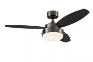 Westinghouse Lighting Canada 7876400 Alloy Two-Light 42-Inch Reversible Three-Blade Indoor Ceiling Fan, Gun Metal with Opal Frosted Glass