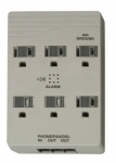 Woods 41153 6-Outlet Front Entry Surge Protector Wall Adapter (Light Grey)